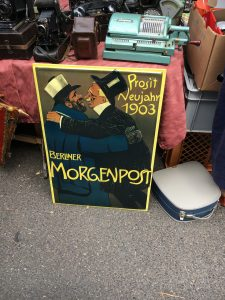 a poster at the yard sale