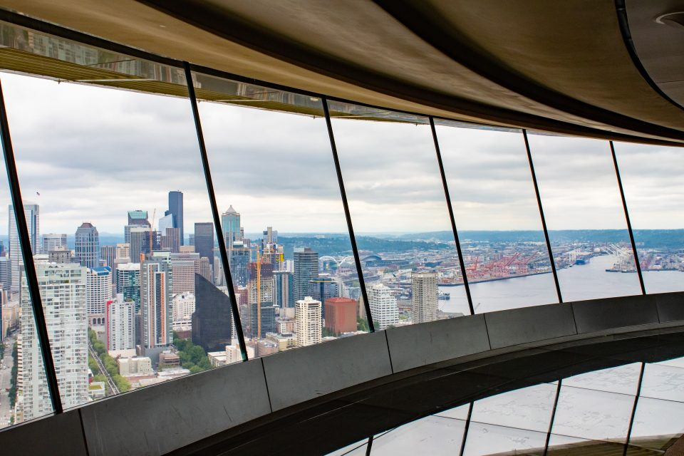 A view from the sky needle in Seattle