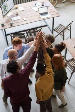-people raising hands