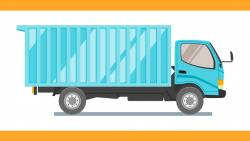 -illustration of a moving truck