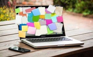 Bulletin board laptop