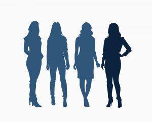 a female shaped silhouett