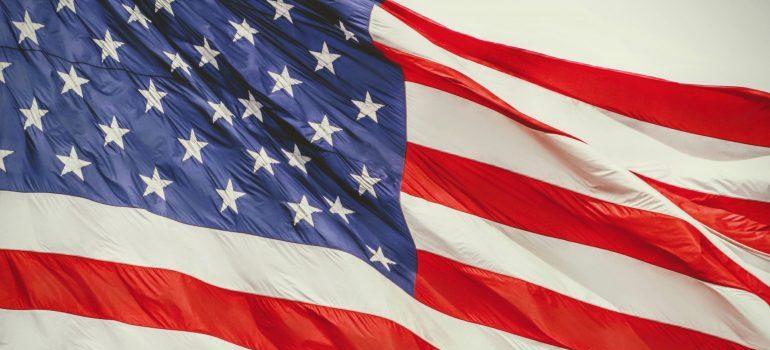 The USA flag- military moving statistics