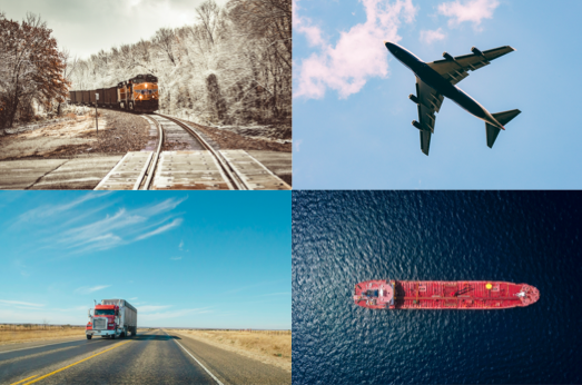Vehicle Shipping Services- transportation - a train, a plane, a truck, a ship