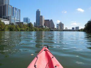 Kayak in Austin river