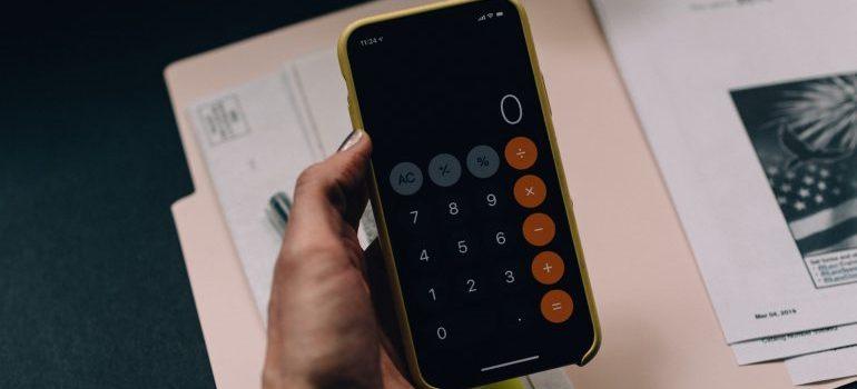 A phone calculator