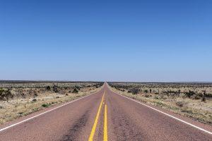 empty highway in the desert
