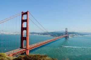 Golden State Bridge representing moving from Arizona to California