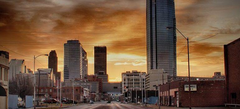 Oklahoma at dusk