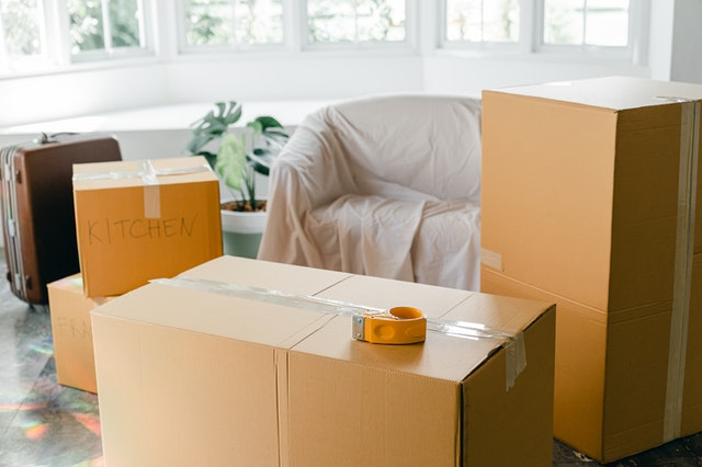 Moving boxes inside home