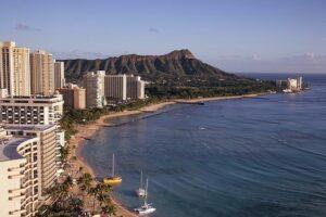Honolulu from air