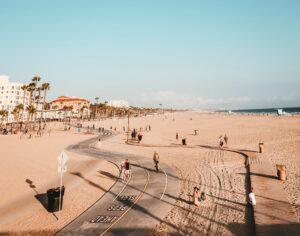 santa monica beach walk