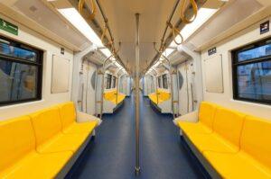 A yellow metro wagon