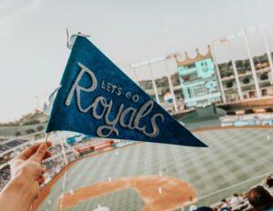 kansas city baseball stadium cheering