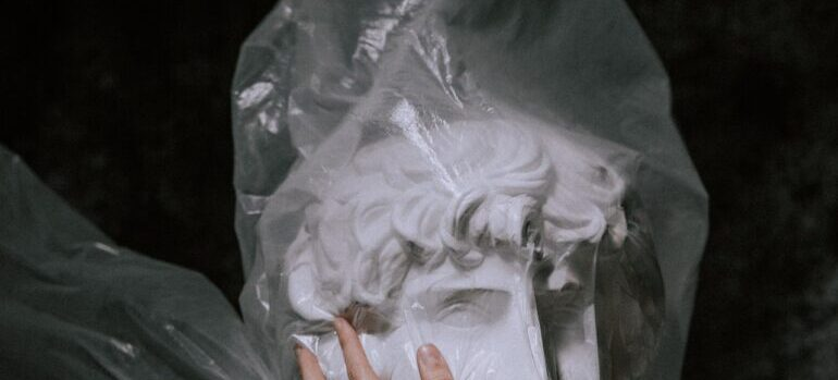 -plastic wrappings for arts
