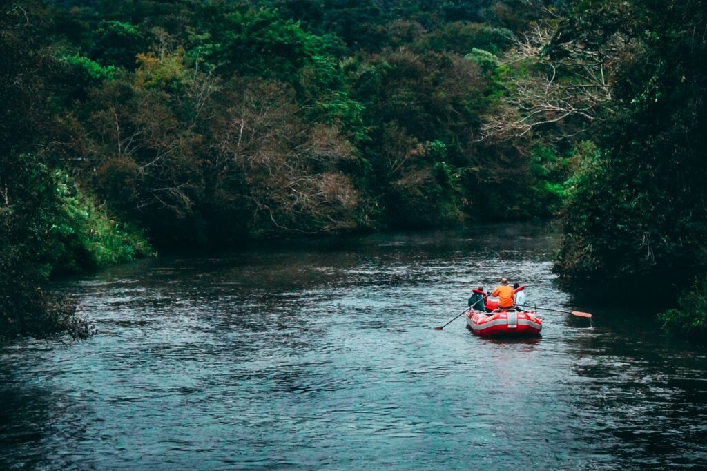 raft boat on a river