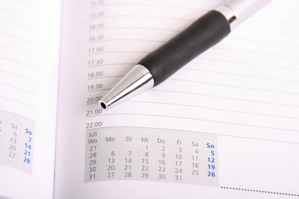 a pencil on a schedule that helps moving from Richmond VA to Orlando FL a much easier task