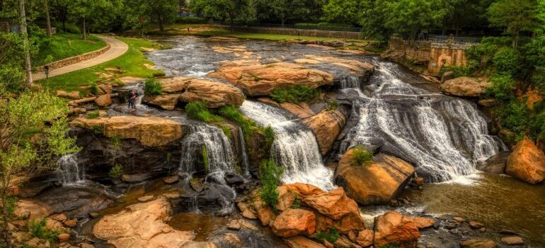 Enjoy the beauty of Reedy River, Greenville, SC after moving from Connecticut to South Carolina