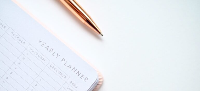 A yearly planner