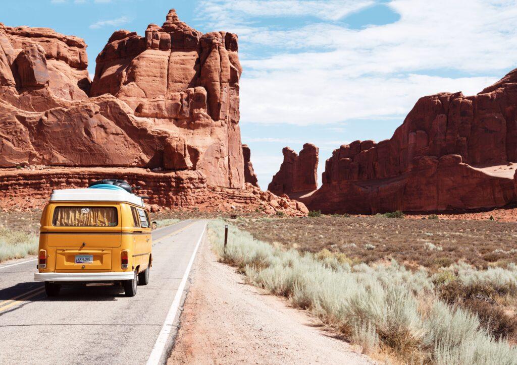 A road trip van