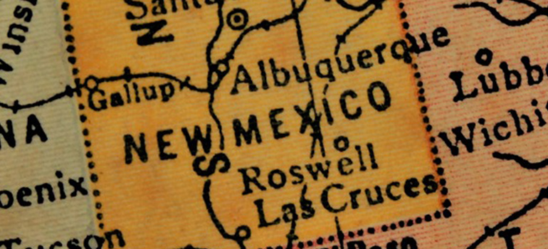 the map of New Mexico