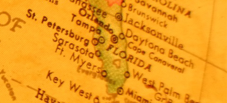 the map of Florida depicting one of the Top interstate relocation routes for 2020