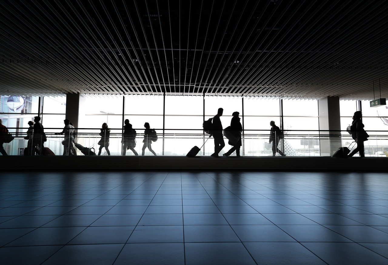 People on an airport