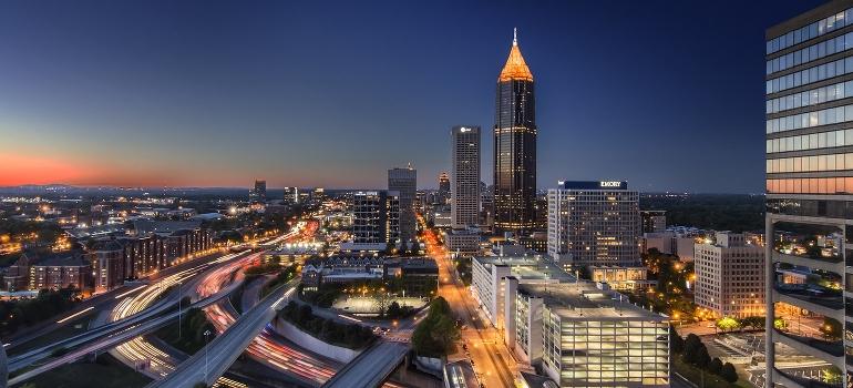 Atlanta night panorama