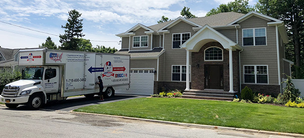 great movers company truck in front of a house they are moving
