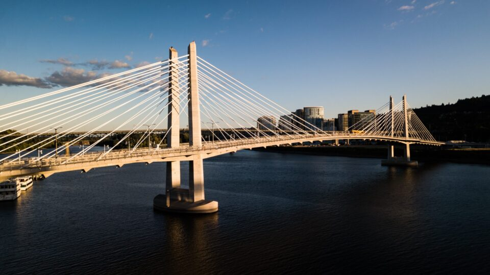 moving from Knoxville to Portland is going to present you with this wonderful view of Portland bridge and skyline