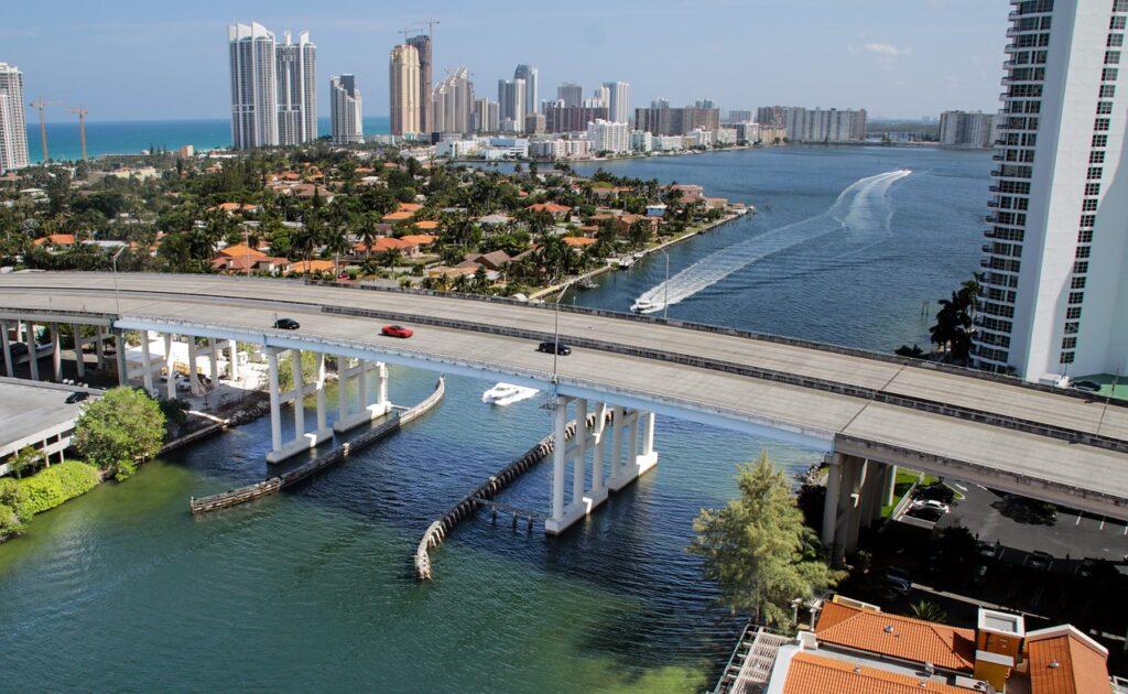 A bridge in Miami