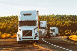 fleet of moving trucks