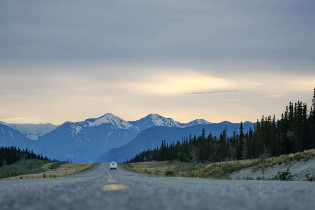 Open road somewhere in Alaska