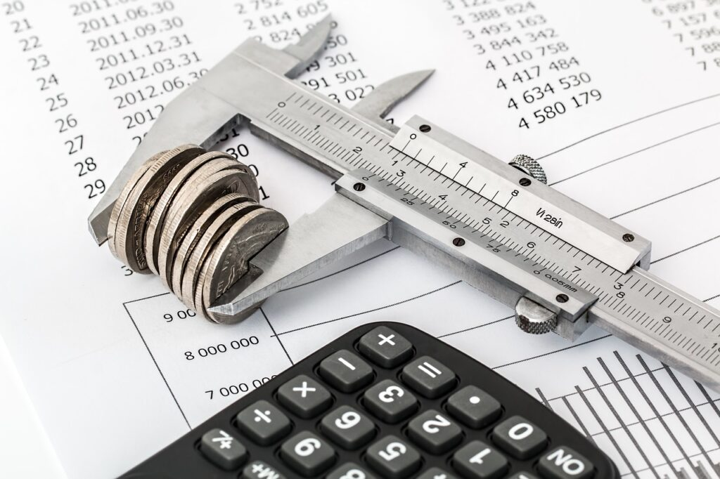 Coins, a calculator, and some calculations