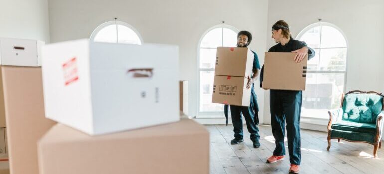 movers holding boxes