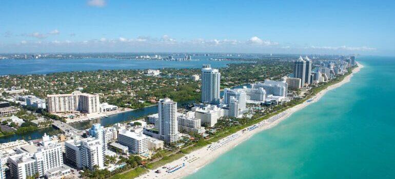 Landscape of Miami Beach.