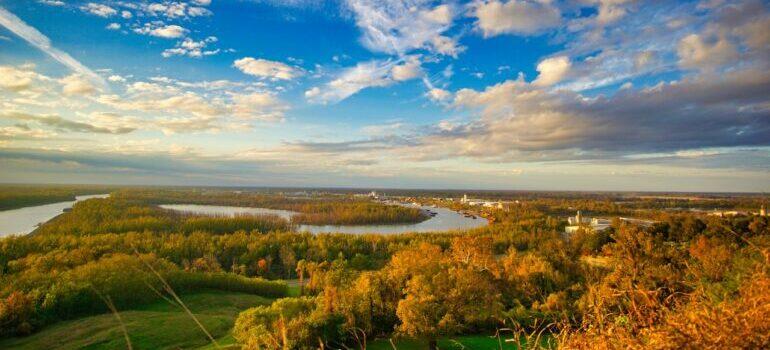 A landscape of Mississippi.