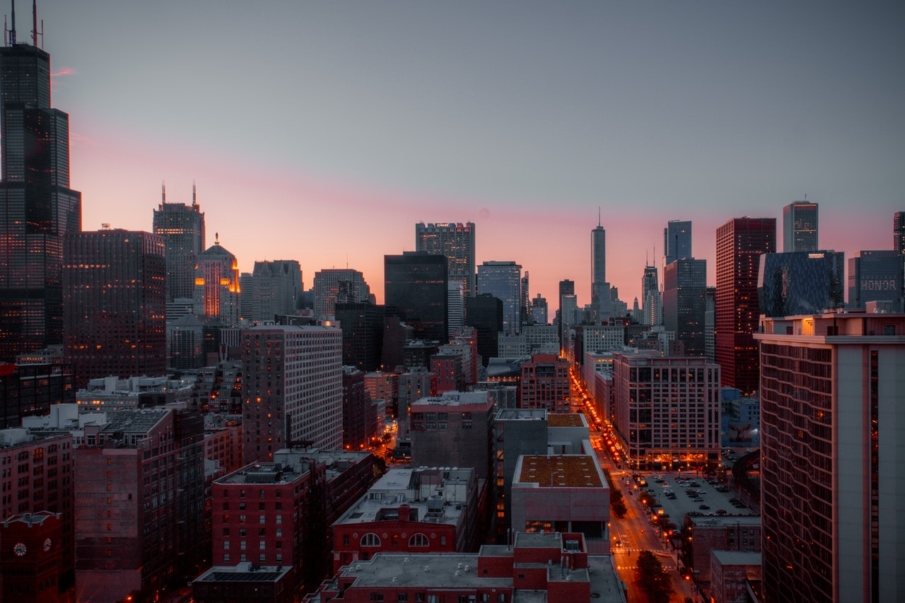 Chicago during dusk