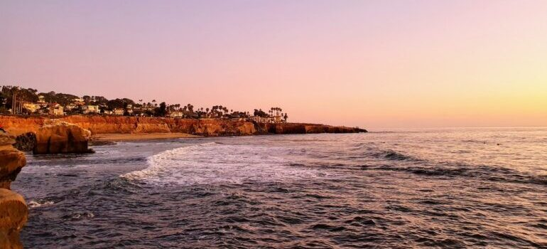 The beautiful beaches of San Diego are a good reason for moving from Florida to California.