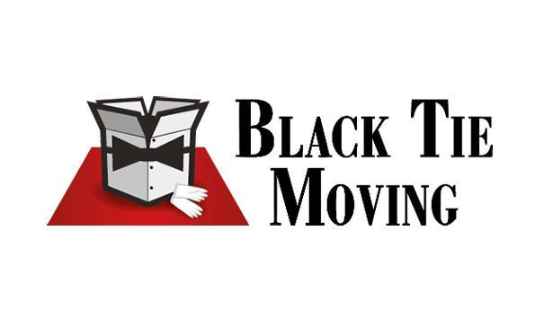Black tie moving company logo