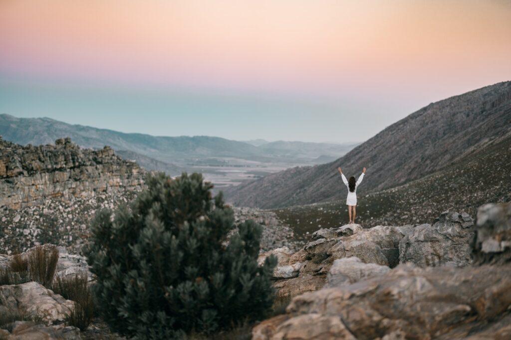 A girl enjoying nature in Texas