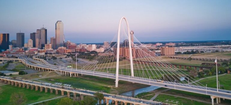 an air view of Dallas