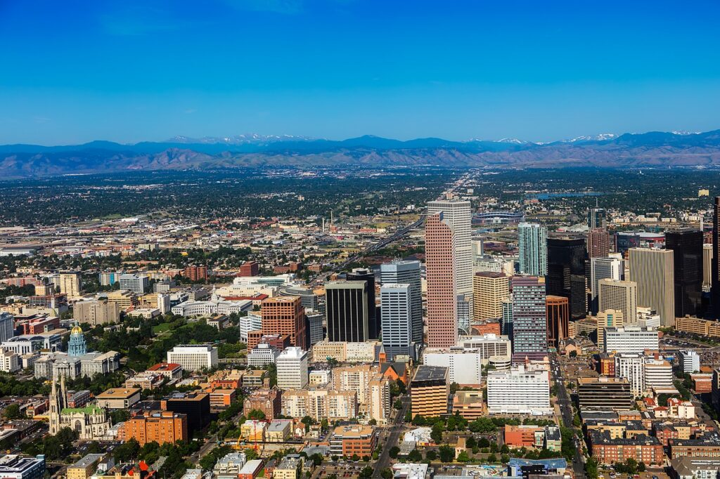 bird's view of Denver